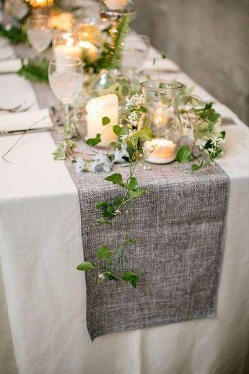 mesas decoradas sencillas para bodas