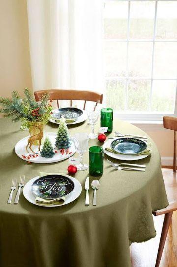 mesas decoradas sencillas para cena navideña