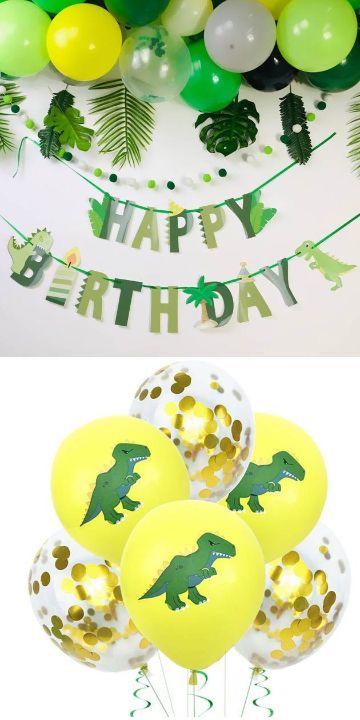 practica decoracion de dinosaurios para cumpleaños