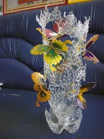 adornos con botellas de plastico creativos