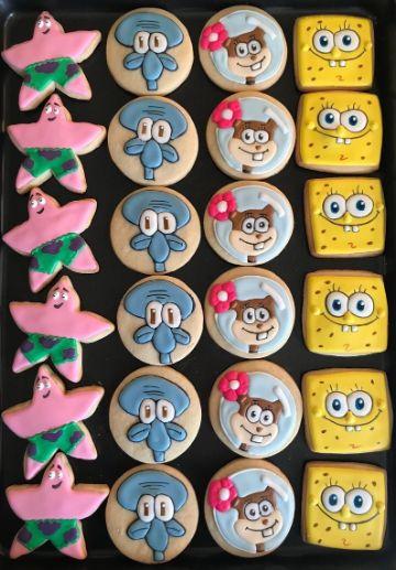 comida para cumpleaños de bob esponja