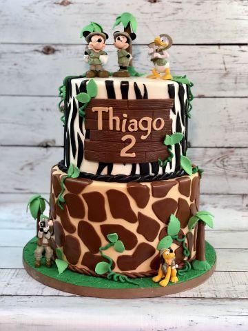 como hacer tortas de mickey safari
