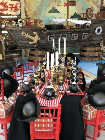 como hacer una decoracion de piratas para fiestas infantiles