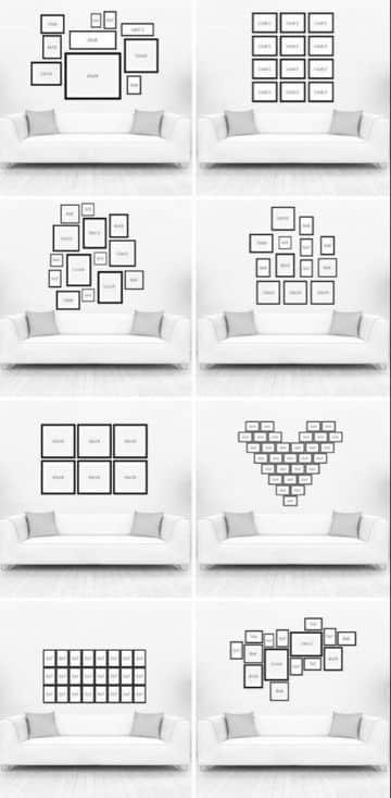 decoración con fotos en paredes estilos