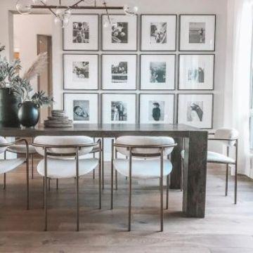 decoración con fotos en paredes para cocina
