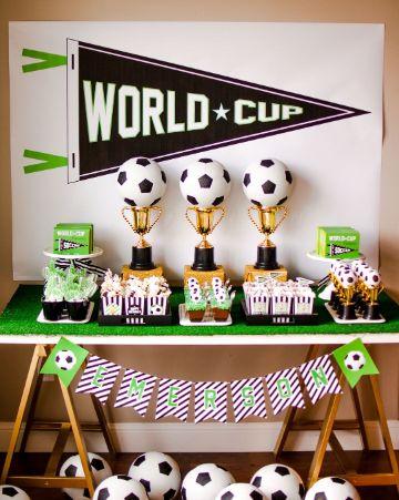 decoracion cumple de futbol para chicos