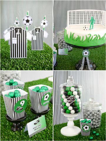 decoracion cumple de futbol sencillas