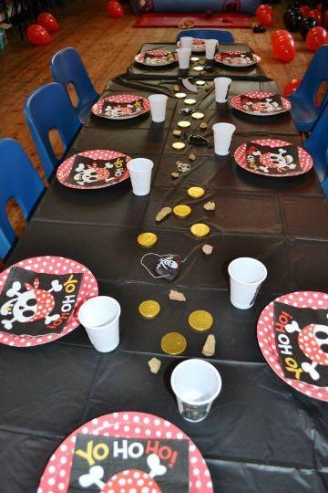 decoracion de piratas para fiestas infantiles para mesas