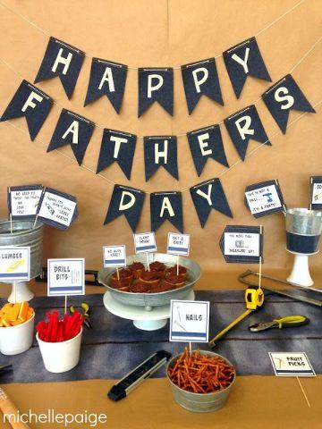 decoracion para celebrar el dia del padre en familia