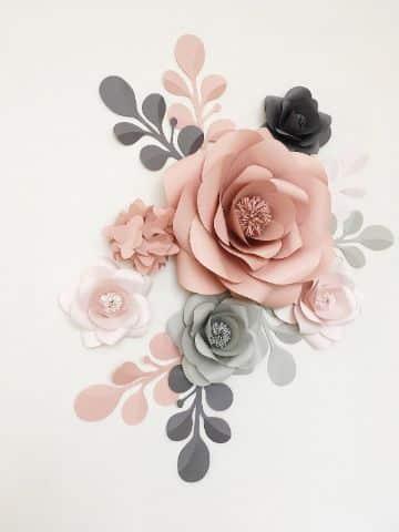 decoraciones de flores de papel para cumpleaños de chicas