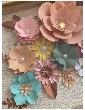 decoraciones de flores de papel para cumpleaños elegantes