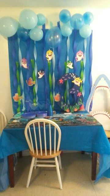 facil decoracion de baby shark