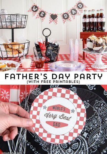 facil decoracion para celebrar el dia del padre