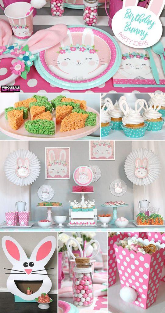 fiesta tematica de conejos sencillas