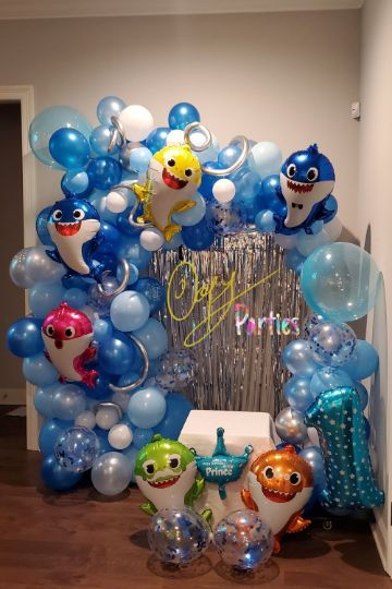 hermosa decoracion de baby shark