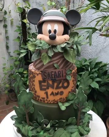 ideas para tortas de mickey safari