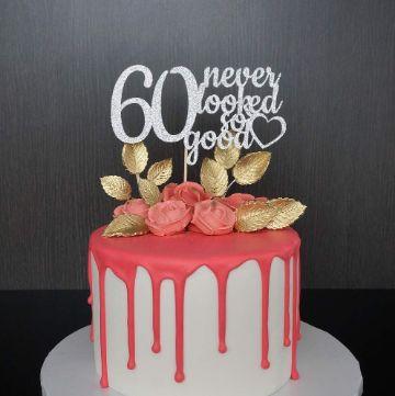 torta para decoracion para 60 años mujer