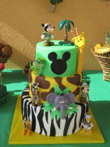 tortas de mickey safari para niños