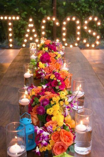 centros de mesa mexicanos para bodas