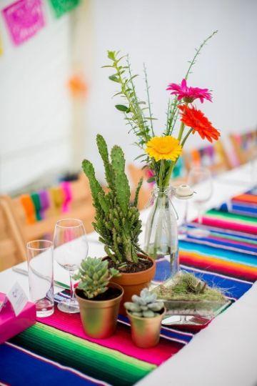 centros de mesa mexicanos sencillos