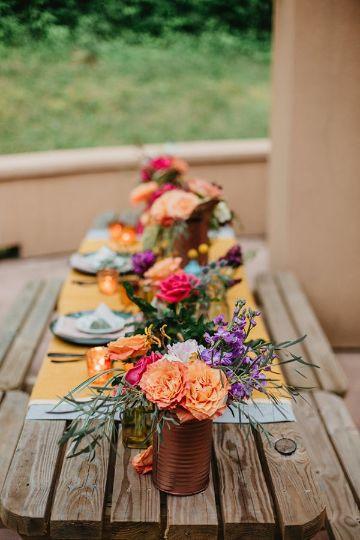 centros de mesa para picnic coloridos