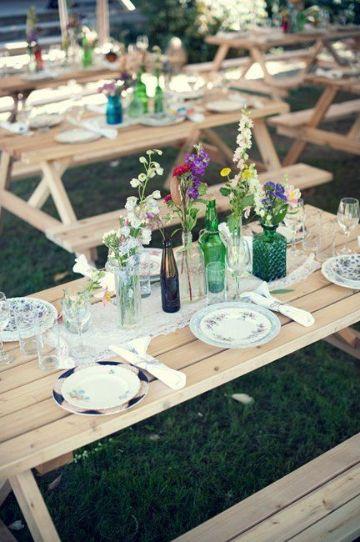 centros de mesa para picnic en familia