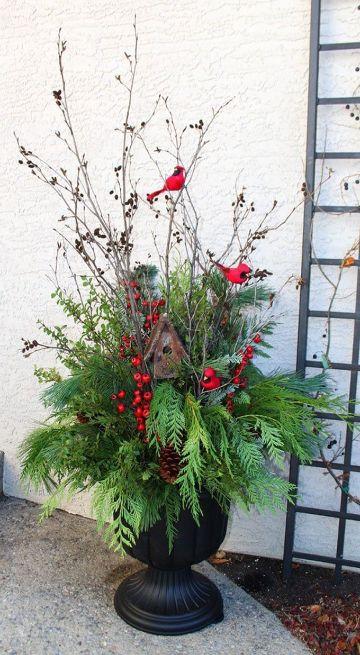 como hacer un decoracion navideña para patios