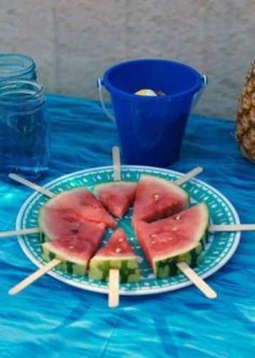 cumpleaños en la playa para niños en comida