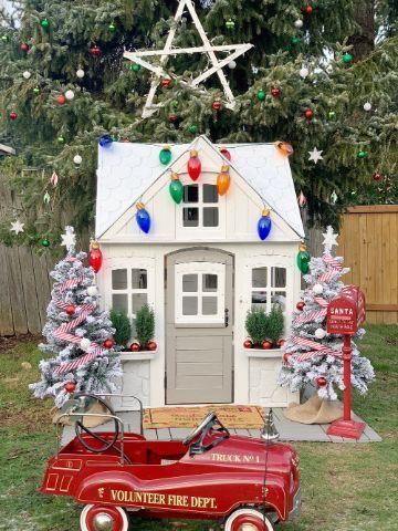 decoracion navideña para patios linda
