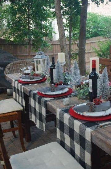 decoracion navideña para patios para cenar
