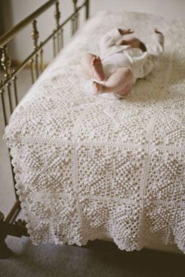 colchas para bebes recien nacidos blancas
