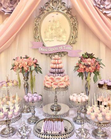 como hacer mesa de dulces de princesas