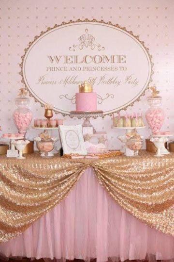 faciles mesa de dulces de princesas
