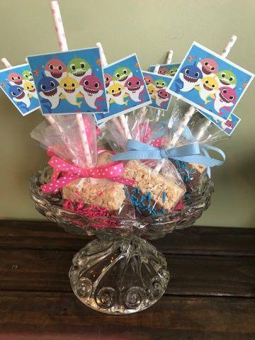mesa de dulces de baby shark ideas