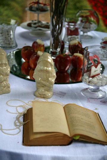 mesa de dulces de blanca nieves para chicas