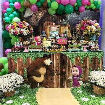 mesa de dulces de masha y el oso extravagante