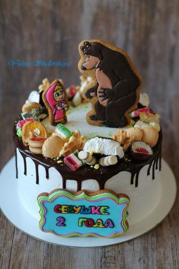 torta de masha y el oso en crema paso a paso