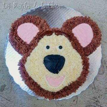 torta de masha y el oso en crema sencilla
