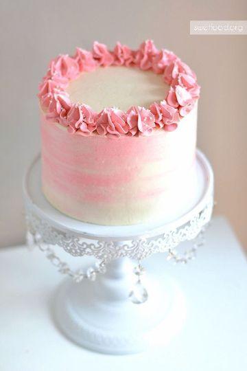 tortas de bautismo con crema para niña