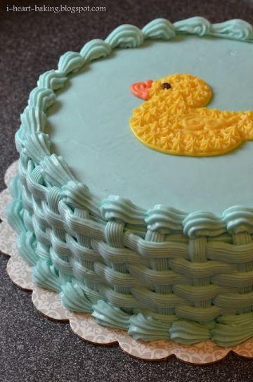 tortas de bautismo con crema para niños