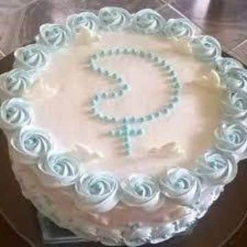 tortas de bautismo con crema sencilla