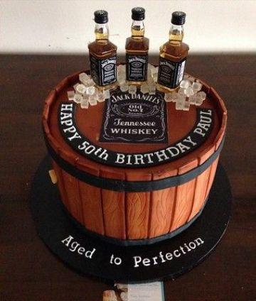 tortas de cumpleaños para hombres de 50 con fondant