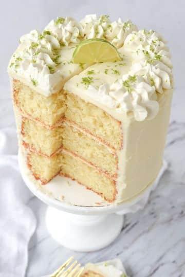 tortas para niñas en crema de limon