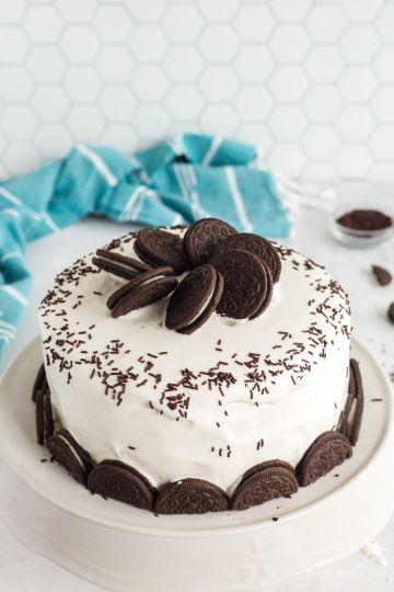 tortas para niñas en crema de oreo