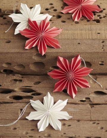 adornos colgantes de papel para navidad