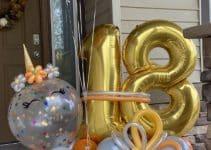 4 hermosos arreglos de unicornio con globos para fiestas