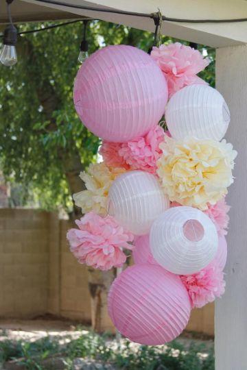 bolas de papel para decorar fiestas