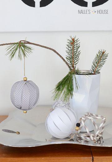 bolas de papel para decorar sencillas