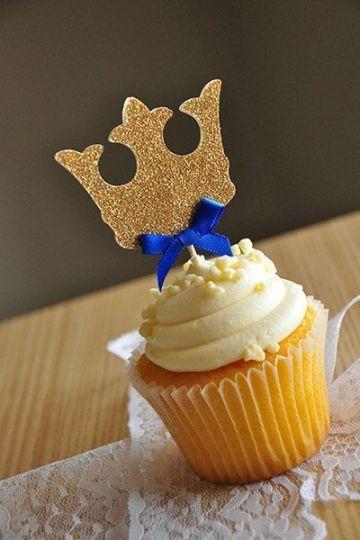 cupcakes para baby shower de niño