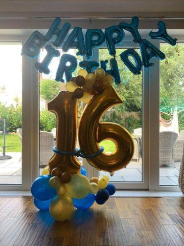 decoracion con globos para hombres de 16